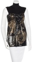Alberta Ferretti Embellished Virgin Wool Top
