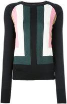 Marni intarsia geometric jumper - women - Silk/Polyamide - 42