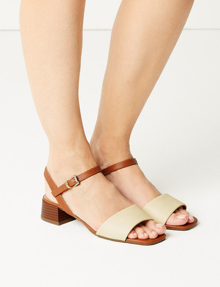 Marks and Spencer Ankle Strap Block Heel Sandals