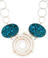 Melissa Joy Manning Turquoise and Shell Necklace