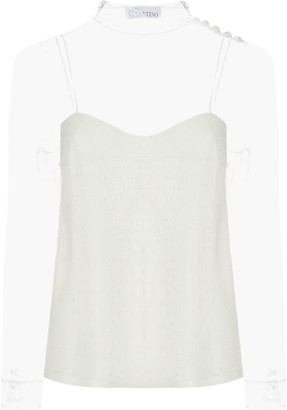 RED Valentino Tulle Blouse