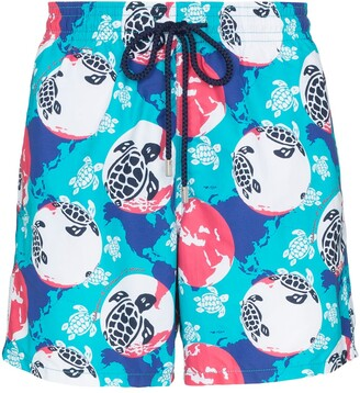 Vilebrequin Moorea Turtle print swimming shorts