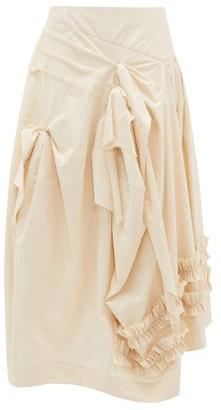 Molly Goddard Juliet Frilled Cotton-canvas Midi Skirt - Ivory