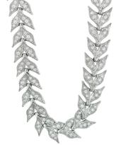 Cathy Waterman Platinum and Diamond Wheat Necklace