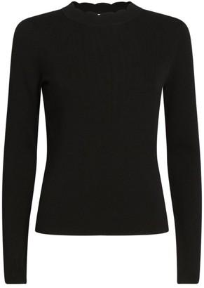 Claudie Pierlot Cotton-Blend Knitted Sweater