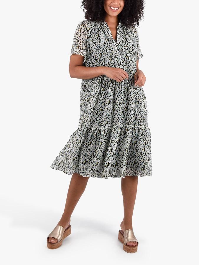Live Unlimited Heart Spot Tiered Dress, Multi