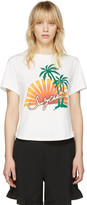 See by Chloe Off-White Palm Tree T-Shirt