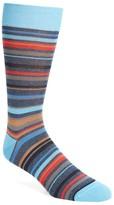 Bugatchi Men's Multi Stripe Crew Socks