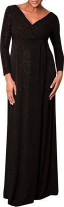 Tiffany Rose Maternity Isabella Glittery Long-Sleeve Surplice Dress