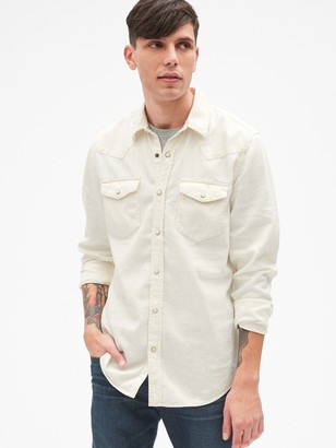 Gap Denim Western Shirt in Slim Fit