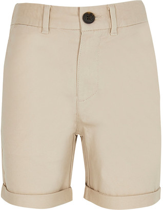 River Island Boys stone chino shorts