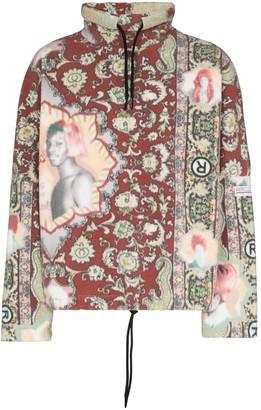 Martine Rose Rug-Print Funnel Neck Sweatshirt