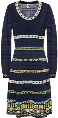 M Missoni Jacquard-trimmed Crochet-knit Dress