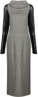 Gianfranco Ferré Pre-Owned 2000s Contrast-Sleeve Dress
