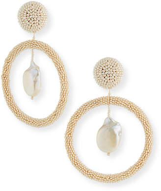 Sachin + Babi Tandon Beaded Hoop-Drop Clip Earrings