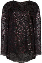 ADAM by Adam Lippes sheer patterned top