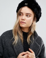Ted Baker Mini Bow Detail Faux Fur Hat