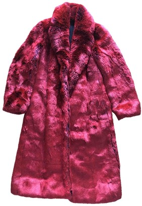 Calvin Klein Red Faux fur Coat for Women