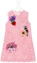 Dolce & Gabbana floral motifs dress - kids - Cotton/Nylon/Viscose - 10 yrs