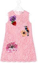 Dolce & Gabbana floral motifs dress - kids - Cotton/Nylon/Viscose - 6 yrs