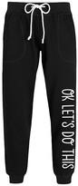 Instant Message Women's Women's Sweatpants BLACK - Black 'OK Let's Do This' Joggers - Women & Plus