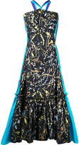 Peter Pilotto mermaid hem gown - women - Cotton/Polyester - 8
