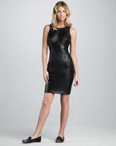 Single Dress Single Leather Combo Dress