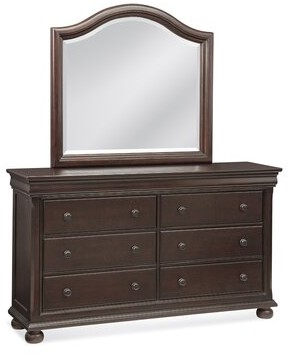 Darby Home Co Cullom 6 Drawer Double Dresser with Mirror Color: Merlot