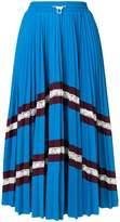 Valentino chevron pleated midi skirt