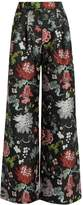 ADAM by Adam Lippes Floral-jacquard wide-leg trousers