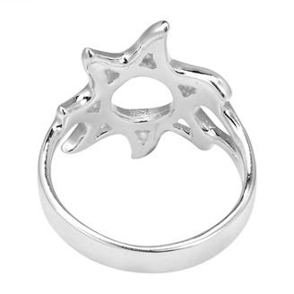 Aeravida Handmade Summer Fun Sunshine Sterling Silver Ring