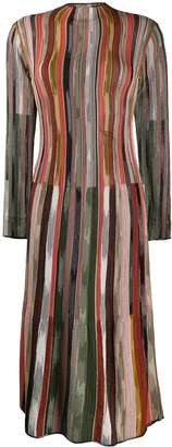M Missoni contrast stripe knit dress
