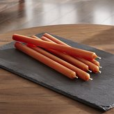 Crate & Barrel Orange Taper Candles Set of 6