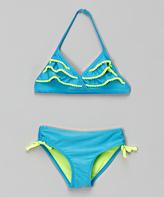 Jantzen Ocean Blue Ruffle Bikini - Toddler