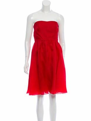 Valentino Silk Mini Dress Red