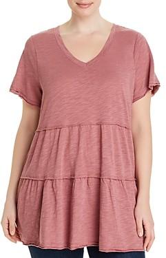 Cupio Plus Tiered V-Neck T-Shirt