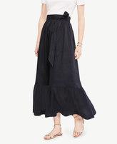 Ann Taylor Petite Tie Waist Maxi Skirt
