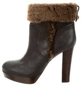 Tory Burch Suede Platform Ankle Boots