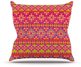 Nika East Urban Home Mexicalli by Martinez Outdoor Throw Pillow East Urban Home