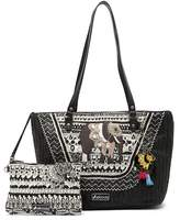 Sakroots Artist Circle Straw Tote & Pouch
