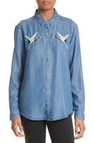 The Kooples Women's Embroidered Denim Shirt