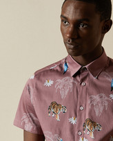 Ted Baker KOCHOPS Animal print cotton shirt