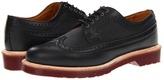 Dr. Martens Alfred Brogue Shoe (Black/Black/Polished Smooth) - Footwear