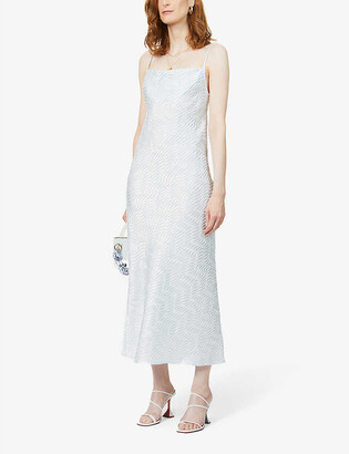 ART DEALER Rachel textured crepe midi dress