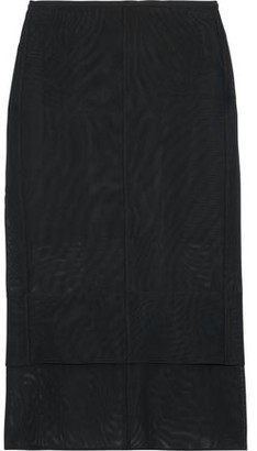 Thierry Mugler Layered Tulle Midi Pencil Skirt
