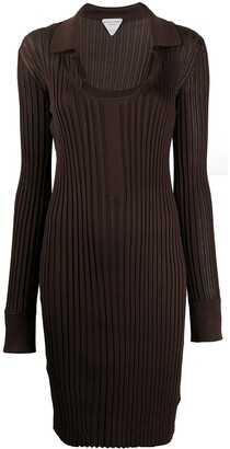Bottega Veneta Scoop Neck Ribbed Knit Dress