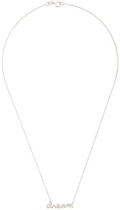 Sydney Evan Dream slogan pendant necklace