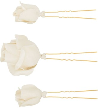 Jennifer Behr Rosalie flower hair pin set