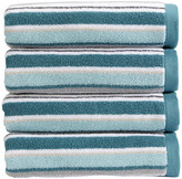Christy Portobello Stripe Towel - Aqua - Bath Sheet