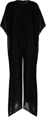 Taller Marmo Metallic Stripe Print Jumpsuit